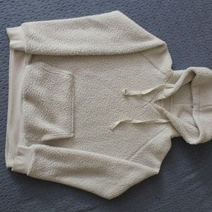 Off White Fuzzy Hoodie